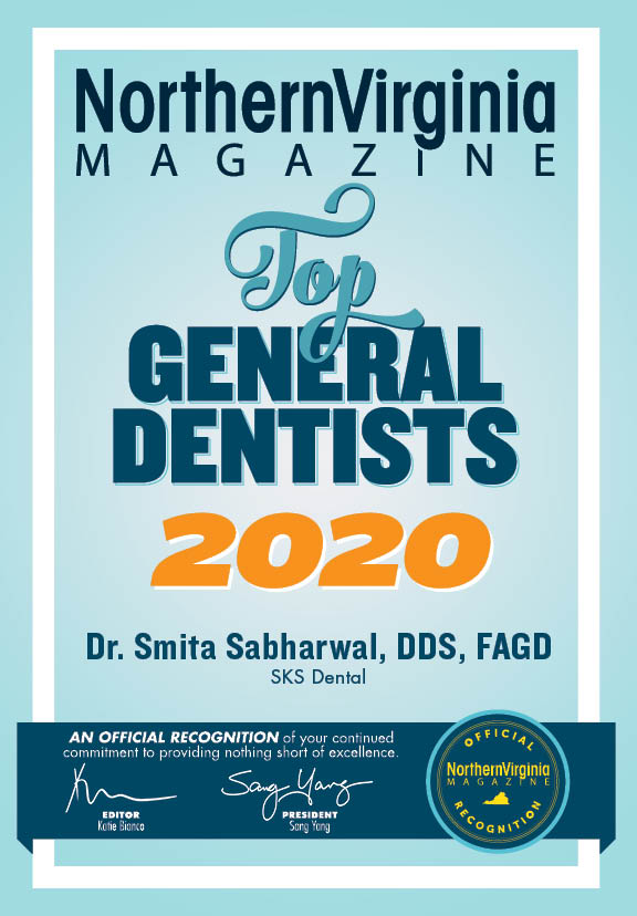 SKS Dental, top 100 general dentists in Northern Virginia 2020