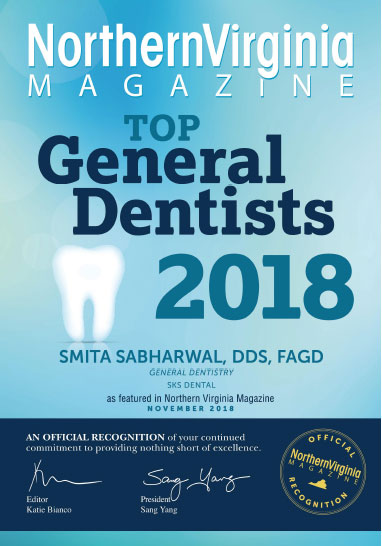 SKS Dental, top 100 general dentists in Northern Virginia 2018